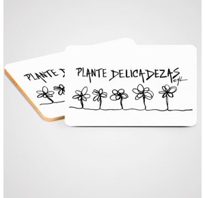 Plaquinha Plante delicadezas