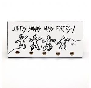 PORTA CHAVE: JUNTOS SOMOS MAIS FORTES