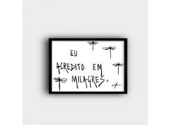 QUADRO: Eu acredito em milagres